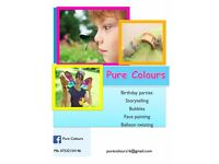 Children's party entertainment! face painting story telling! from £100