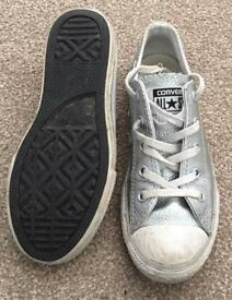 Girls silver converse uk 13