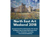 North East Art Weekend 2018 at Brancepeth Castle, Durham 29/30 Sept 2018