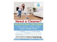 Hire a Reliable Cleaner Now - Cleaning Dusting Mopping Bedding Windows & Ironing Done For You