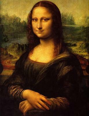 - MONA LISA GLOSSY POSTER PICTURE PHOTO leonardo da vinci smile art painting 2066