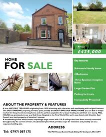 Large four bedroom period property with lots of original features with development opportunities