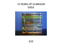 CLARKSON DVDS 13 OF THEM
