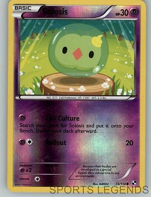 55//114 Common Pokemon Black /& White M//NM English x4 Solosis
