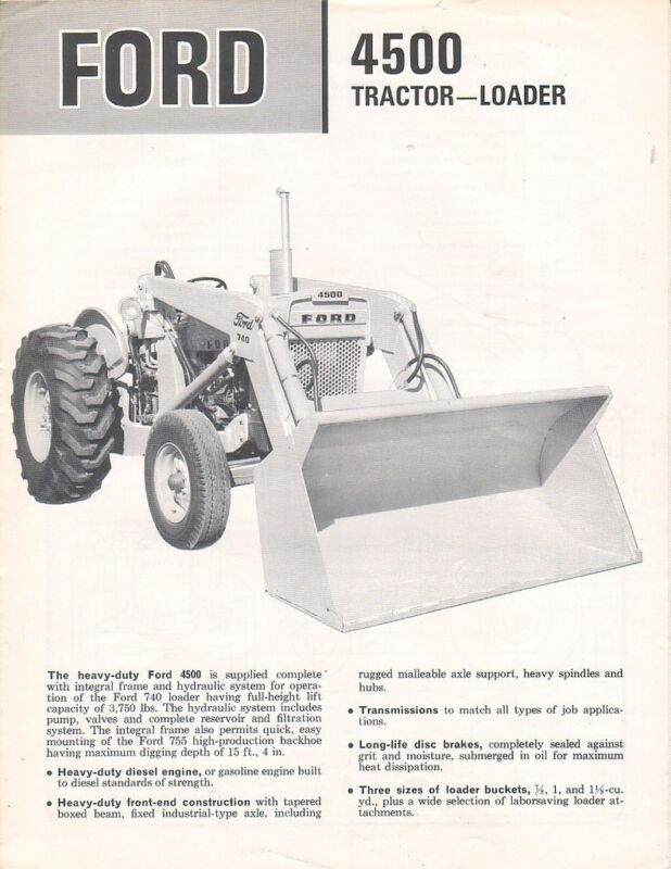 Equipment Brochure - Ford - 4500 - Tractor - Loader - c1965 (EB483)