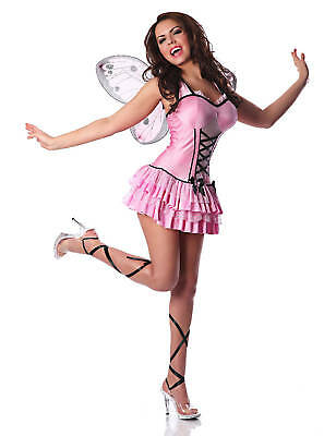 Sexy Adult Halloween Pink Butterfly Fairy Costume