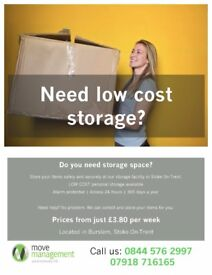 Secure Storage Space for Personal and Commercial Items