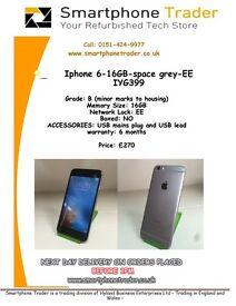 iPhone 6 - 16GB - Space Grey - EE - IYG599