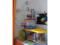 Rotastak Hasmter Cage with curvy tubes and including all accessories required