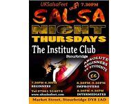 Thursday Salsa Classes in Stourbridge