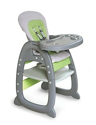 badger basket envee ii baby high chair w/playtable conversion