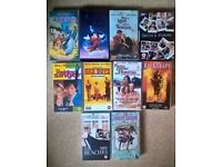 10 Classic VHS tapes for sale.