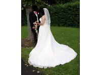 Gorgeous MORI LEE Wedding Dress Size 14-16 Elegant sparkly bodice & train (by Madeline Gardner)
