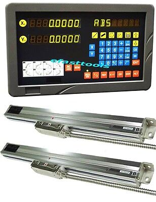 9x42 DRO 2 AXIS MILL BRIDGEPORT PACKAGE LINEAR SCALES NEW FREE SHIPPING NEW