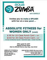 AQUA Zumba *Special Rates Limited time offer. Restrictions Apply