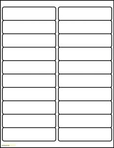 """100 Sheets of Address Labels 4"""" x 1"""" -2000 Labels compatible with Avery Label 5161"""
