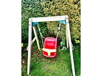 Wooden Plum Swing: Baby - Toddler Safety Swing