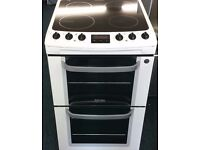 Electrolux 55cm wide double oven and grill electric ceramic cooker