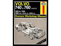HAYNES VOLVO 740 & 760 SERVICE REPAIR MANUAL 1982 - 1989 PETROL MODELS