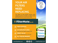 MVHR HRV Replacement Air Filters Titon Vent Axia Nuaire FilterMate