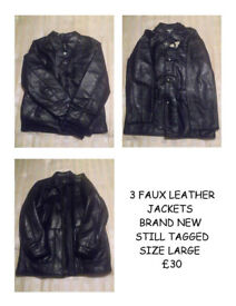 3 X LEATHER JACKETS ALL NEW