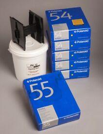 POLAROID. Type 55 Polaroid Pos-Neg FILM.