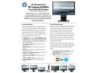 H.P. Compaq LA2006x Wide LCD TFT Monitor 20 inch