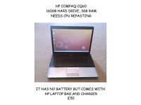 Hp compaq cq60 laptop