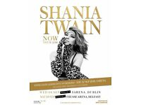 2 x Shania twain tickets dublin seating