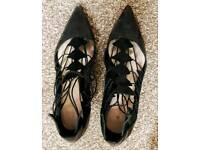 Zara size 37 black heels