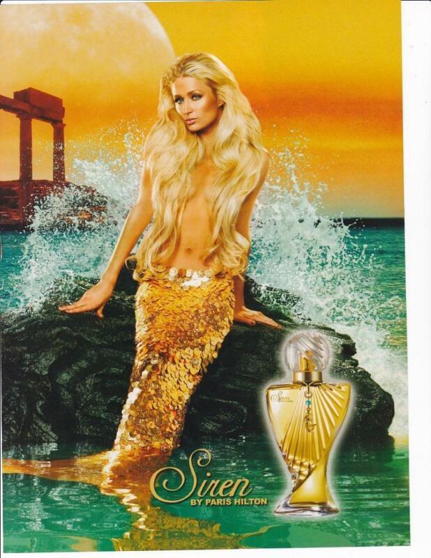 2009 Beautiful Paris Hilton Mermaid Siren Perfume Print-Ad