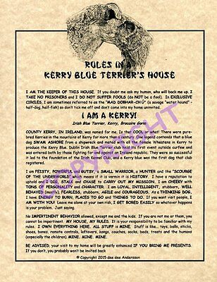 Rules In A Kerry Blue Terrier's House