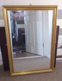 Lovely Large Gilt Framed Mirror 33 x 23 inch in Great Condition