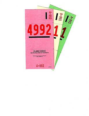 3 PART VALET PARKING TICKETS 1000 per pack 2 Sided Auto