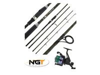 New NGT Dynamic Camo 4 Piece 9 Foot Carbon Travel Rod +TZ60R Reel 12lb line - Can Deliver