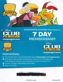 Club Penguin 7 Day Membership