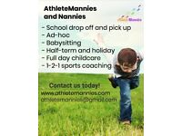 AthleteMannies - Sporty wrap-around nanny/ male nanny service.