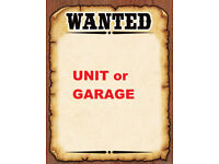 Garage or Unit Wanted Worcester area