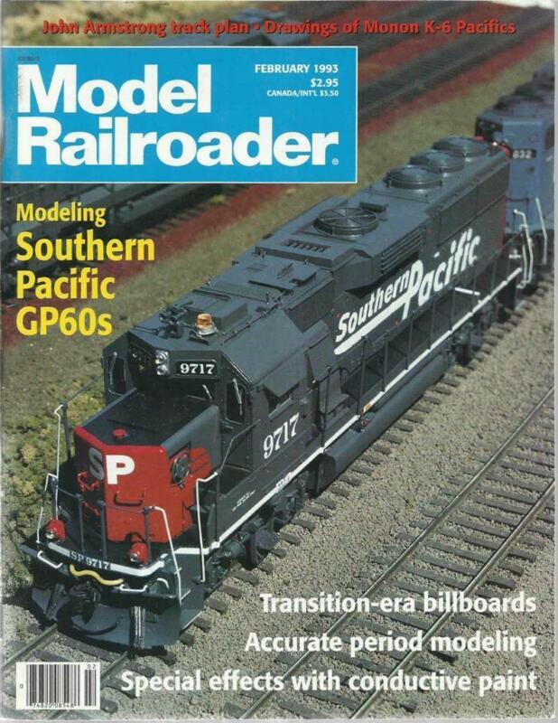 Model Railroader February 1993 Chicago & Louisville K-6 Pacific Plan Billboards