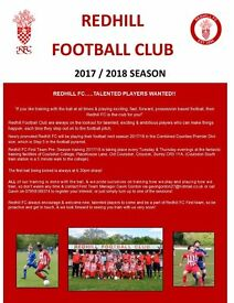 Redhill FC Trials Thurs 6th July 6.30pm start-Step 5 Football-Talented Players Welcome