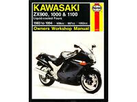 HAYNES KAWASAKI ZX900, 1000 & 1100 LIQUID COOLED FOURS 1983 - 1994