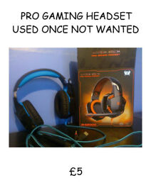 PC GAMERS HEADSET FOR PS4 OR XBOXONE