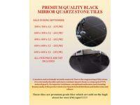 Premium Quality Black Mirror Quartz Stone Tiles