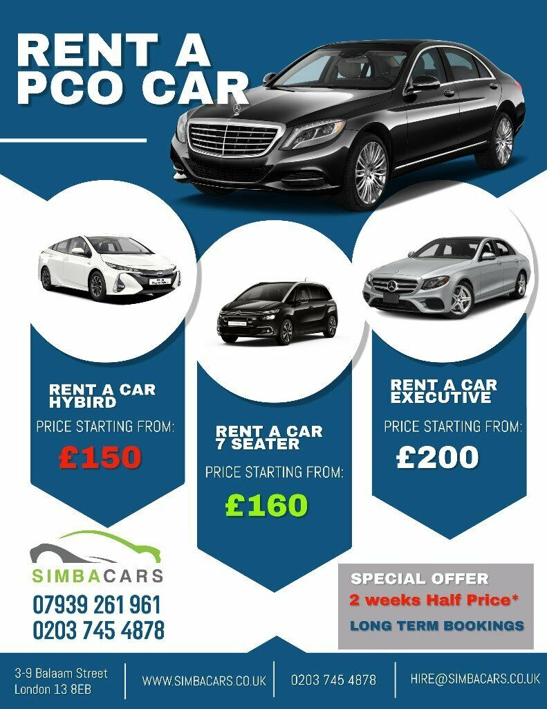 Pco Car Hire With Insurance Low Deposit Uber Ready In