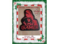 PERFECT CHRISTMAS HANDMADE MDF GAMING PLAQUE, READY TO HANG!