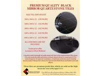 Black Mirror Quartz Stone Tiles 600 x 600