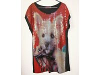 Butler & Wilson Sequinned Dog Tunic Small