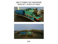 1980'S THOMAS THE TANK ENGINE TRAIN SET