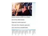 Guitar lessons in BS5 or on Zoom