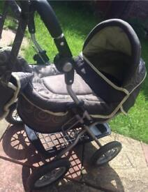 Dolls Pram, Silver Cross